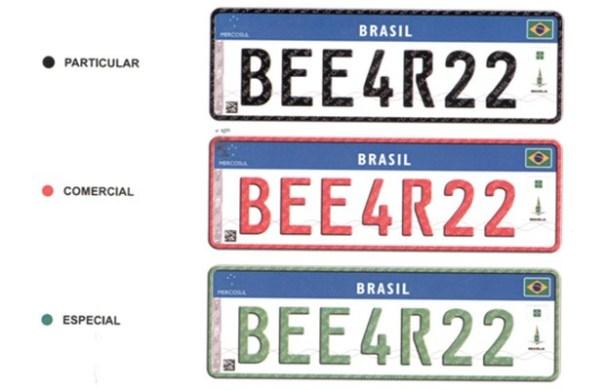 Placas do Mercosul serão exigidas em veículos até o final de 2020 - Foto: Revista Auto Esporte