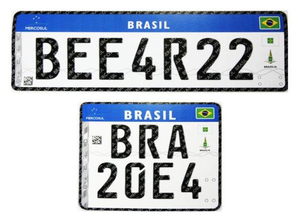 Placas do Mercosul serão exigidas em veículos até o final de 2020 - Foto: Veja