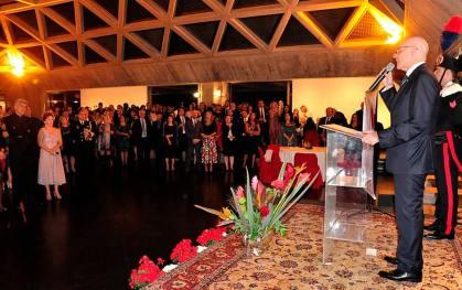 Embaixador da Itália, Raffaele Trombetta discursa na Data Nacional da Itália