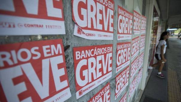Greve dos bancários: Fenaban ofereceu reajuste de 6,5%, abaixo da inflação do período - Foto: Marcelo Camargo / Agência Brasil