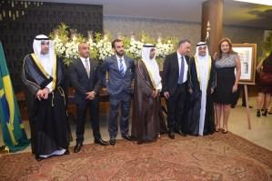 Embaixador do Estado de Kuwait, Ayadah M. Alsaidi, Embaixador do Egito para a América do Sul, Alaa Roushady, e Senhora Embaixatriz