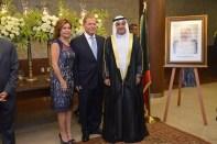 Embaixador do Estado de Kuwait, Ayadah M. Alsaidi, Embaixador do Líbano, S.E. Sr. Joseph Sayah, e Sra. Embaixatriz Sanna D. Tabara