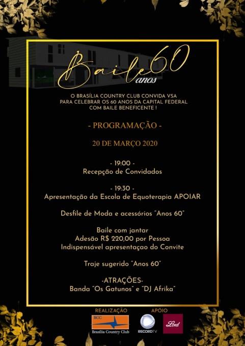 Baile Anos 60 - Celebrando 60 anos de Brasília