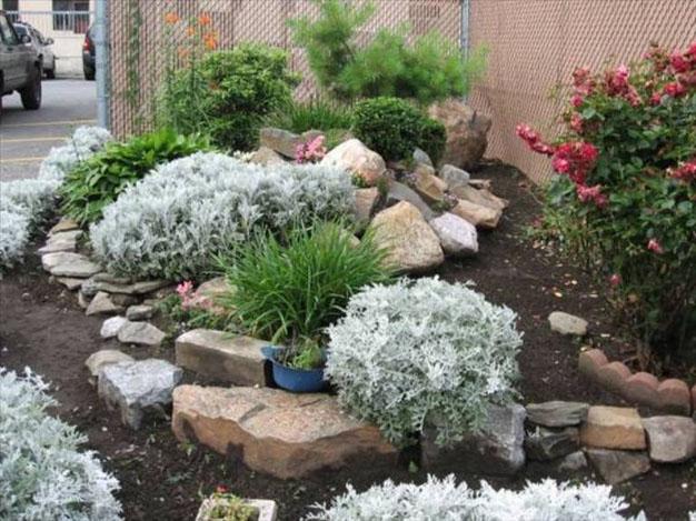decorare il giardino con la pietra