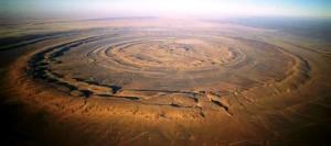 El Ojo del Sáhara - Crater-de-Richat-300x133