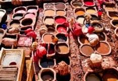 El Zoco de los Curtidores de Fez - el Bali - Curtiduría
