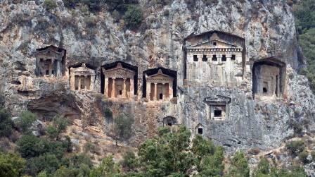 Las tumbas licias de Turquía