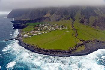 Tristan da Cunha, la isla más remota del mundo.