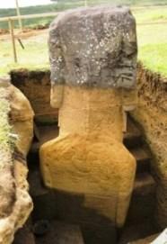 El cuerpo de los moai - easter-island-statue-excavation7-206x300