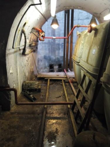 Pozo de la mina para extracción y ventilación.