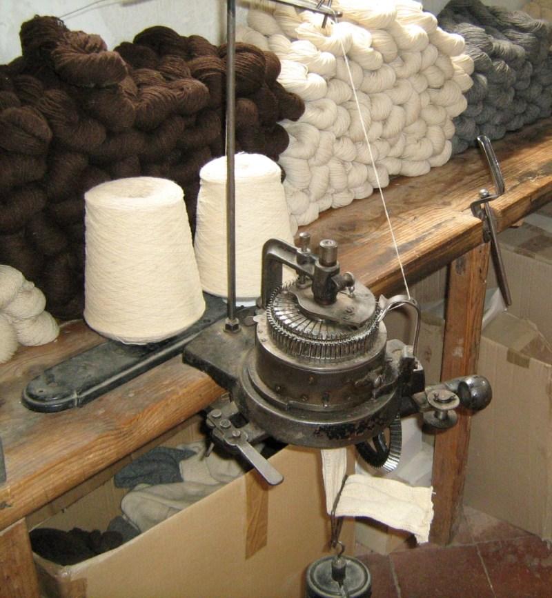 La Fábrica de Lana - Máquina de calcetines.