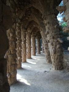 Los Jardines Artigas - Parque Güell. Arcos catenarios
