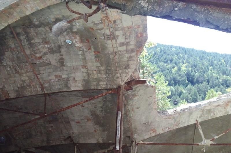Museo del Cemento Asland - Restos de bóveda original