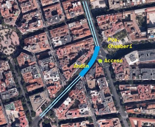 Estación Fantasma de Chamberí - Andén y acceso a la estación de Chamberí (12)
