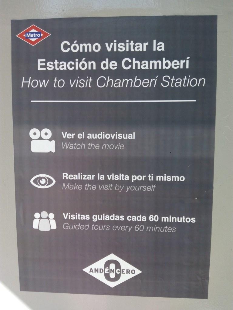 Estación Fantasma de Chamberí - Indicaciones de visita