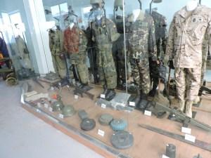 Museo de Carros de Combate - Uniformes de carristas