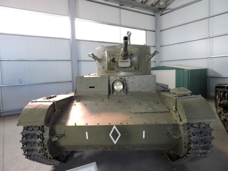 Museo de Carros de Combate - Tanque T-26 con caracterización republicana