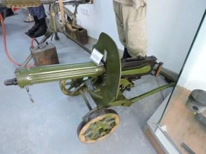 Museo de Carros de Combate - Ametralladora Maxim