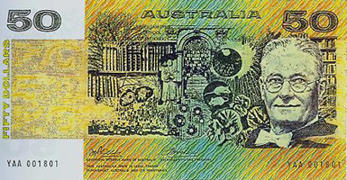 Fleming - Howard Florey en un billete australiano (2)