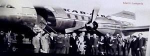 Museo de la Aviación - Turistas finlandeses llegando a Málaga