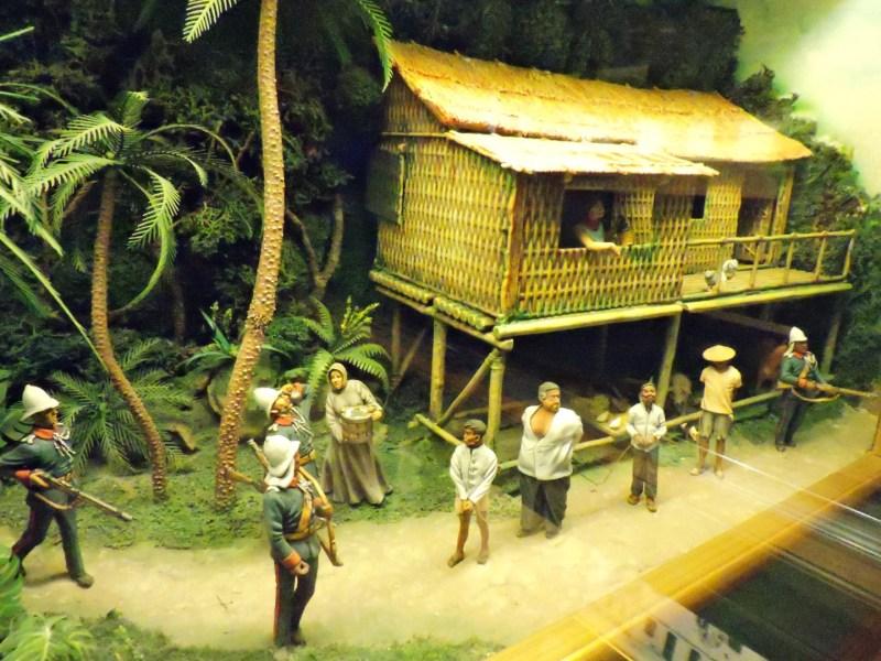 Museo de la Guardia Civil - Detención de miembros del grupo terrorista filipino Katipunan Democrático en 1896 (Imagen propiedad del Museo de la Guardia Civil)