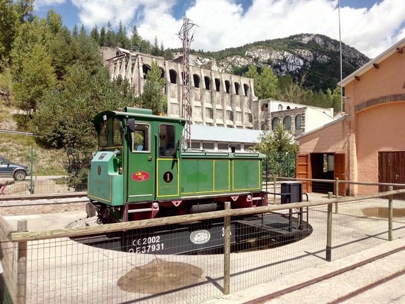 Tren del Cemento - Plataforma giratoria