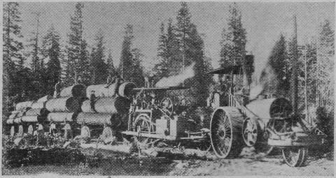 Tren del Cemento - Locomóvil con 6 vagones, fabricado por Best Manufacturing, fundada por Daniel Best en 1871 en San Leandro, California (2)