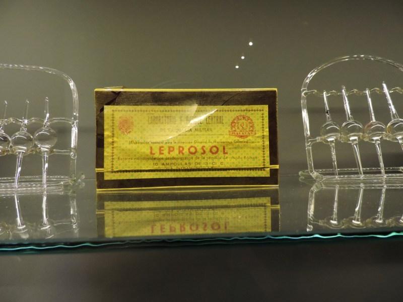 Museo Farmacia Militar - Leprosol, para tratar la lepra