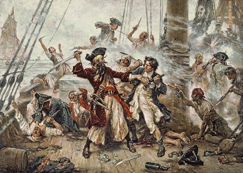 Museo Farmacia Militar - Captura del pirata Barbanegra, de Jean Leon Gerome (3)