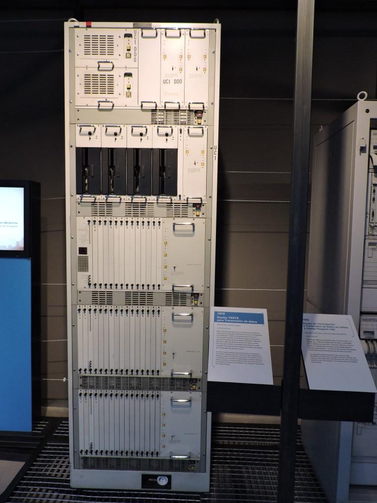 Museo de las Telecomunicaciones - Equipamiento ATM de la Red UNO de Telefónica