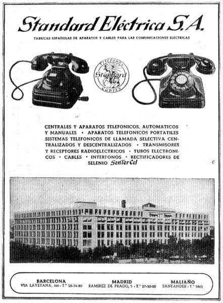 Museo de las Telecomunicaciones - Anuncio de la Standard Eléctrica S.A. (SESA)