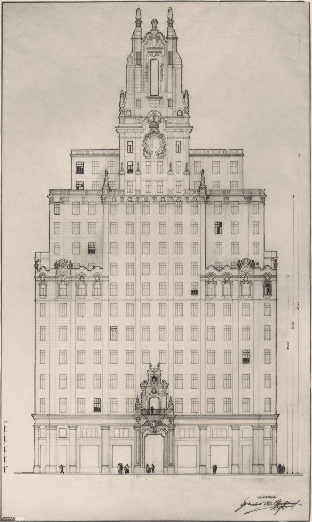 Museo de las Telecomunicaciones - Boceto de Cárdenas sobre la apariencia que debería tener la sede de la CTNE (12)