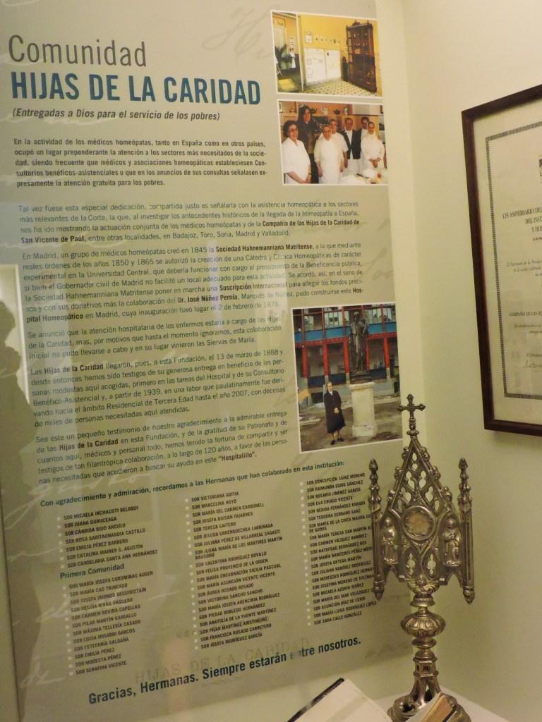 Museo de la Homeopatía - Las Hijas de la Caridad estuvieron trabajando en el hospital durante casi cien años.