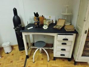 Museo Veterinaria Militar - Recreación del primer laboratorio móvil de veterinaria militar.