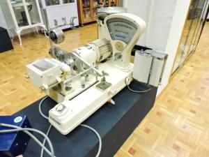 Museo Veterinaria Militar - Farinógrafo mecánico, en el que la aguja indica las unidades de Brabender de la muestra.