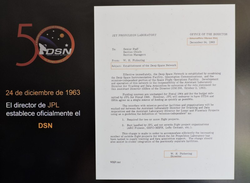 Deep Space Network - Red del Espacio Profundo - Madrid - Pickering, Director del JPL, establece en 1963 la red DSN.