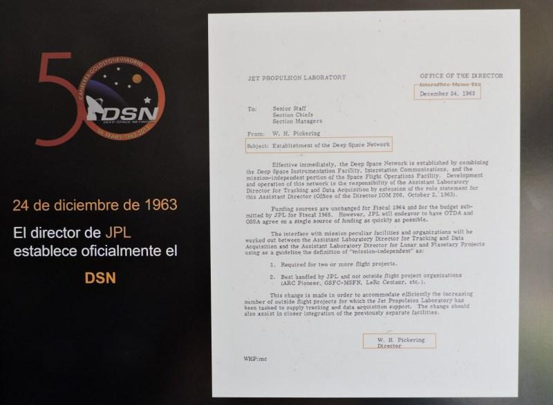 Deep Space Network - Red del Espacio Profundo - Madrid - Pickering, Director del JPL, establece en 1963 la red DSN.