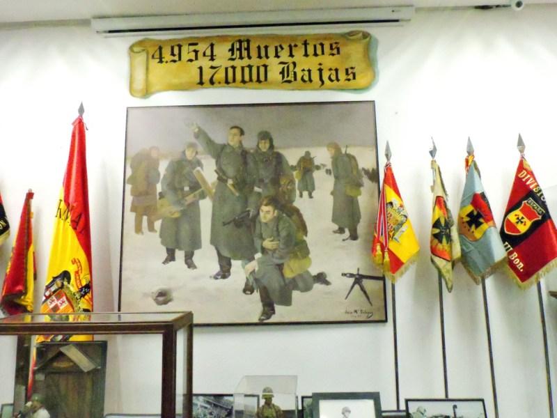 Museo División Azul - En total fueron casi 5.000 los muertos divisionarios.