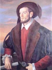 El Galeón de Manila - Retrato de Andrés de Urdaneta, en el Ayuntamiento de Ordicia, su lugar de nacimiento (13).