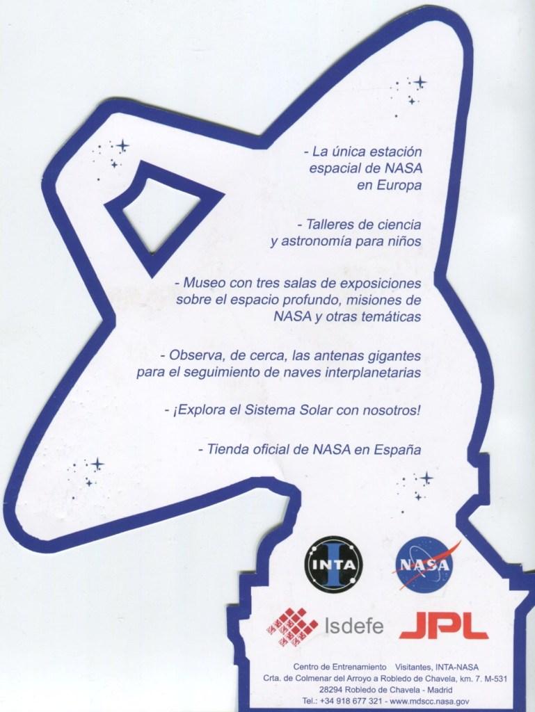 Deep Space Network - Folleto Red Espacio Profundo Madrid