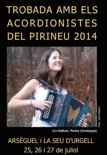 """Museo del Acordeón - Cartel anunciador de una de las """"Trobadas dels acordionistes"""" organizadas por Artur Blasco en Arseguell."""