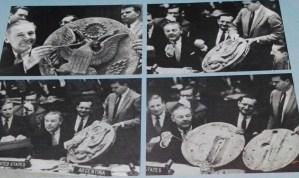 Exposición Theremin - Como réplica ante una acusación de espionaje a la URSS por parte de EEUU, el Embajador ante la ONU mostró en 1960 La Cosa, el sistema de escucha ruso que estuvo siete años en la casa de su embajador.