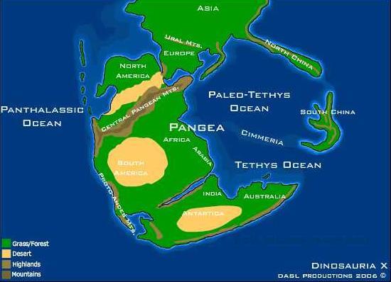 La Montaña de Sal - El Océano de Paleo-Tetis quedó conformado por el interior de Pangea (2).