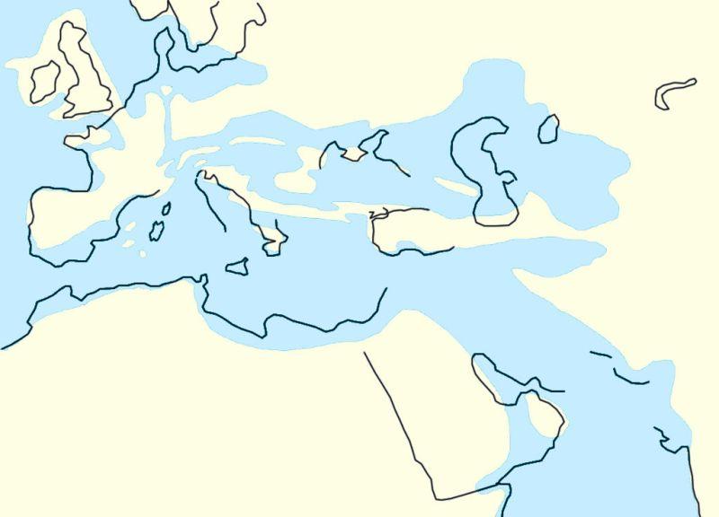 La Montaña de Sal - El Mar de Tetis quedó dividido en dos, Paratetis al Norte y el Mediterráneo al Sur (3).
