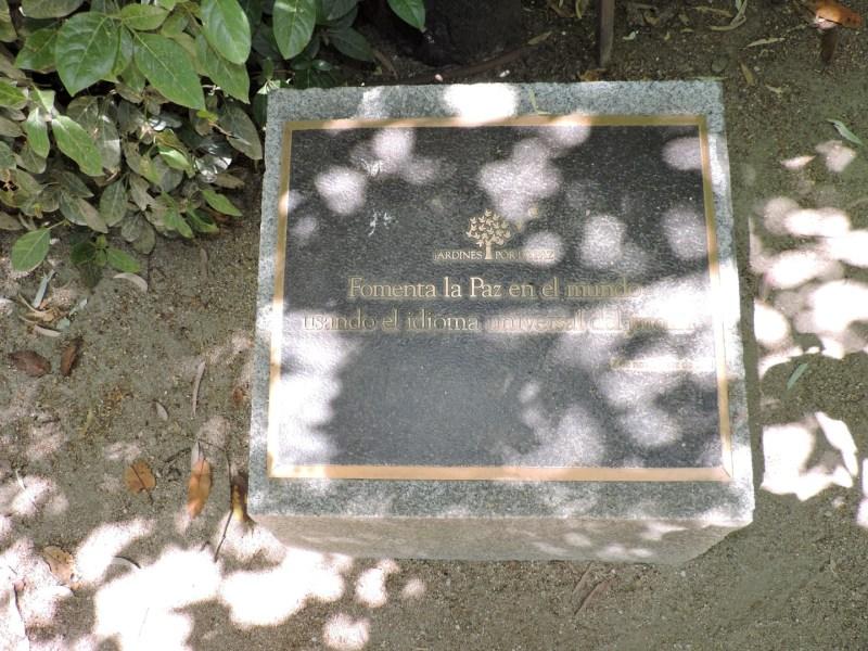 """Jardín Botánico Madrid - """"""""Fomenta la paz en el mundo, usando el idioma universal del jardín"""". Con este lema, la ONG Jardines por la Paz consiguió """"colocar"""" 11 jardines."""
