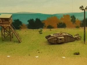 """Museo de Miniaturas Militares - Un tanque Mark I """"Macho""""."""