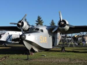 """Museo del Aire - Grumman SA-16 """"Albatross"""". Avión de rescate marítimo con un gran alcance y flotabilidad. España llegó a tener 7, a partir de 1954."""