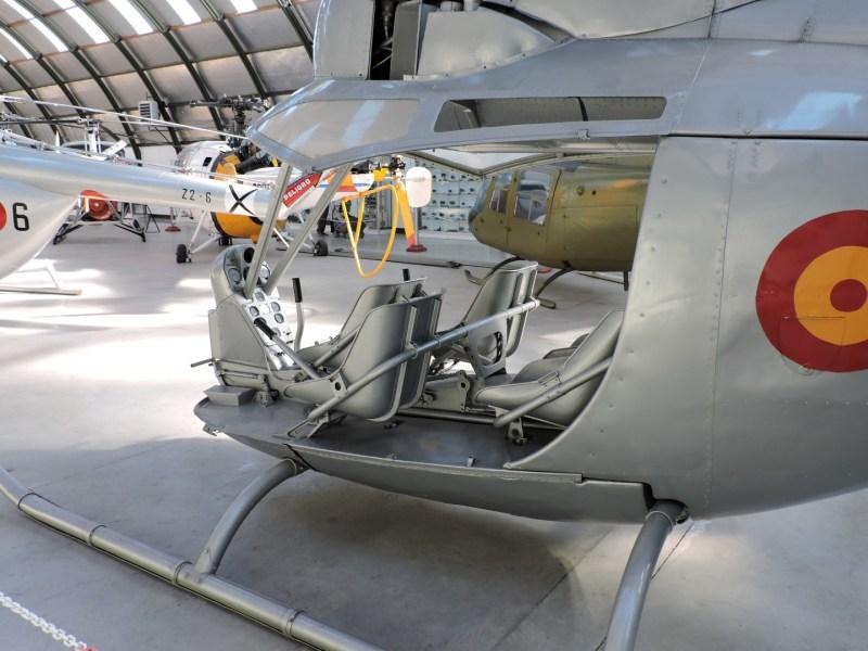 Museo del Aire - Aerotecnia AC-14, helicóptero sin rotor de cola, fabricado en España, en 1956.