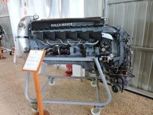 """Museo del Aire - Motor Rolls Royce """"Merlin"""" 500-29, que equiparon aviones como el CASA 2111 """"Pedro"""" y el HA-1112 """"Buchón""""."""