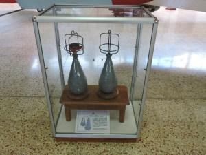 Museo del Aire - Bombas Gotha de la empresa Carbonit AG. Con ellas, el Ejército Español fue el primero en realizar un bombardeo con bombas de aviación, en Marruecos en 1913.